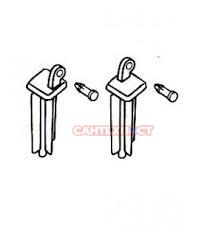 Пластиковые крепления для сиденья с крышкой IDO Z6405500001