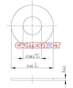 Запорное кольцо сливного механизма инсталляции Wisa Xs 1411988440