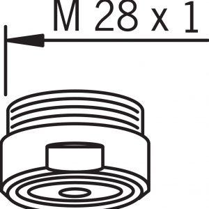 Аэратор м28х1 с внешней резьбой для смесителей Oras
