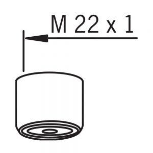 Аэратор М22х1 с внутренней резьбой для смесителя Oras
