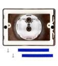 Двухрежимная кнопка слива для инсталляции Sanit S702 глянцевый хром