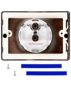 Двухрежимная кнопка слива для инсталляции Sanit S702 глянцевый хром 16.702.81..0000 Подходит для инсталляции Sanit с двумя тросиками.