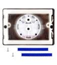 Двухрежимная кнопка слива для инсталляции Sanit S703 глянцевый хром. 16.703.81..0000
