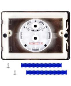 Двухрежимная кнопка слива для инсталляции Sanit S703 глянцевый хром 16.703.81..0000 Подходит для инсталляции Sanit с двумя тросиками.