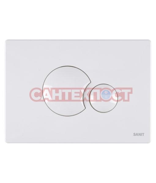 Двухрежимная кнопка слива для инсталляции Sanit S706 белая 16.706.01..0000Двухрежимная кнопка слива для инсталляции Sanit S706 белая 16.706.01..0000 Подходит для инсталляции Sanit с двумя тросиками.