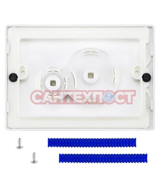 Двухрежимная кнопка слива для инсталляции Sanit S706 белая 16.706.01..0000 Подходит для инсталляции Sanit с двумя тросиками.
