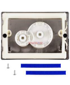 Двухрежимная кнопка слива для инсталляции Sanit S706 глянцевый хром 16.706.81..0000. Подходит для инсталляции Sanit с двумя тросиками.