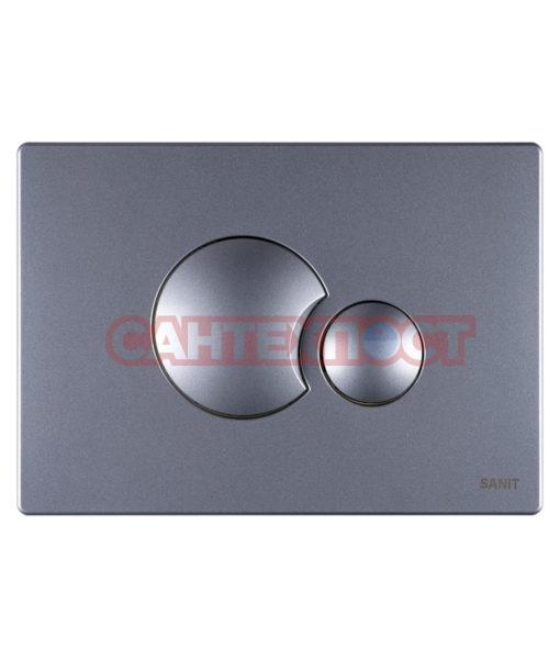 Двухрежимная кнопка слива для инсталляции Sanit S706 матовый хром 16.706.93..0000 Подходит для инсталляции Sanit с двумя тросиками.