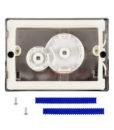 Двухрежимная кнопка слива для инсталляции Sanit S706 матовый хром 16.706.93..00000