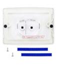 Двухрежимная кнопка слива для инсталляции Sanit S701 белая 16.701.01..0000