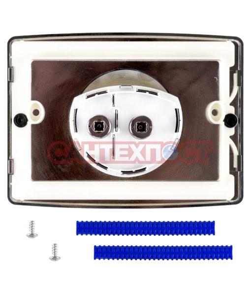 Двухрежимная кнопка слива для инсталляции Sanit S701 глянцевый хром 16.701.81..0000 Подходит для инсталляции Sanit с двумя тросиками.