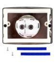 Двухрежимная кнопка слива для инсталляции Sanit S701 матовый хром 16.701.93..0000