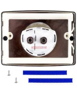 Двухрежимная кнопка слива для инсталляции Sanit S701 матовый хром 16.701.93..0000 Подходит для инсталляции Sanit с двумя тросиками.