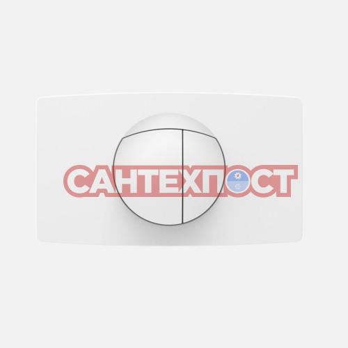Клавиша слива белая для инсталляции Sanit L 16.018.01..0000