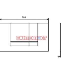Панель смыва Sanit M800 (16.806.93..0000 )
