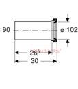 Патрубок Geberit 90 мм для подключения унитаза и инсталляции