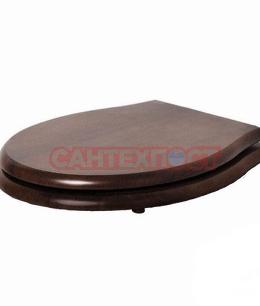 Сиденье с крышкой для унитазов Azzurra Giunone-Jubilaeum (1800NM/F noce/cr) с микролифтом