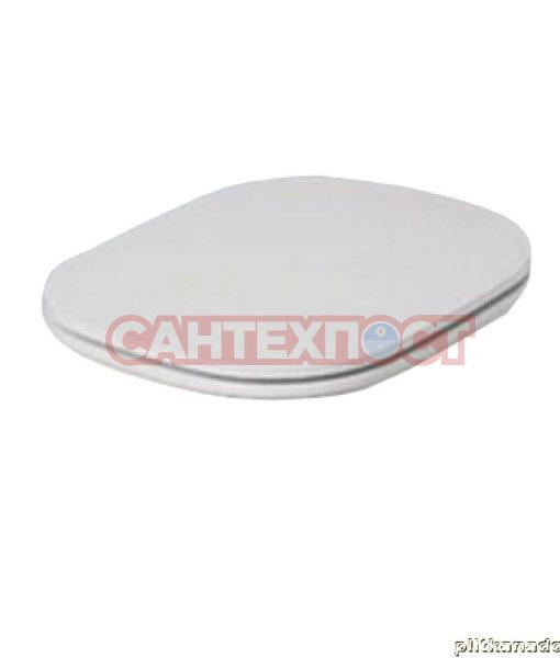 Сиденье с крышкой для унитазов Azzurra Glaze с микролифтом GLZ1800/F bi/cr