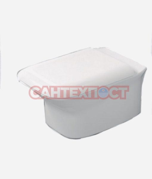 Сиденье с крышкой для унитазов Azzurra Prua PRU1800/F bi/cr с микролифтом