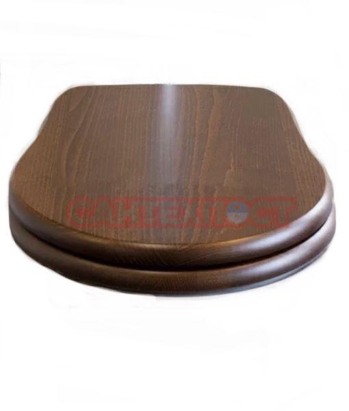 Сиденье с крышкой для унитазов Kerasan Retro 109340 noc/br с микролифтом