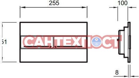 Кнопка смыва для унитаза Jacob Delafon E4316-CP
